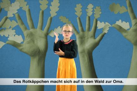 Rotkäppchen in deutscher Gebärdensprache / Little Red Riding Hood in German Sign Language /