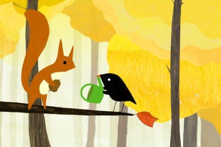 Der kleine Vogel und das Eichhörnchen / The Little Bird and the Squirrel /